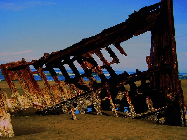 Been there: shipwreck on the beach of Astoria, OR
