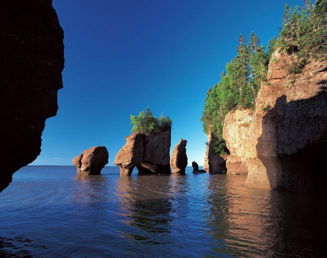 Nestled between New Brunswick and Nova Scotia, Canada, the Bay of Fundy is home to the highest tidal range in the world!