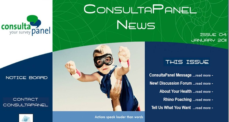 This is our January 2011 newsletter. Read the full version here: http://www.consultapanel.co.za/Newsletters/issue_04/index.htm