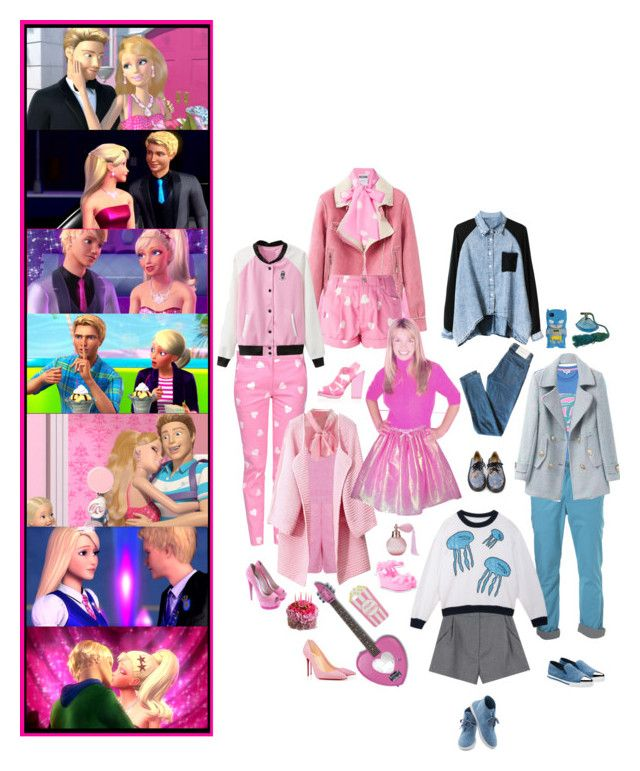 """Barbie and Ken"" by everysimpleplan ❤ liked on Polyvore"