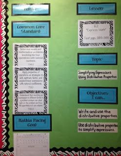 Middle School Math Rules!: Math Focus Wall Photos-Updated