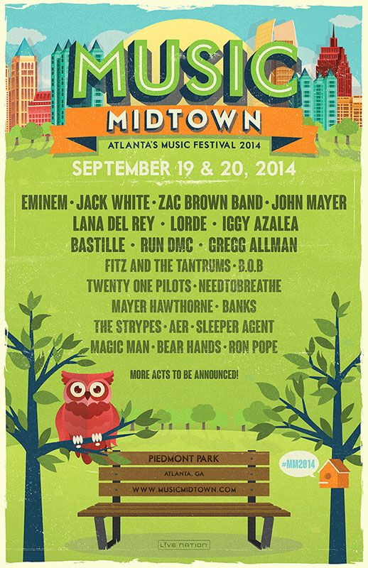 2014 | Atlanta's Music Midtown line up!