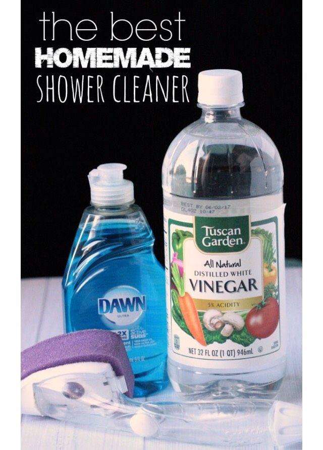 The Best DIY Shower Cleaner EVER #greengoddess