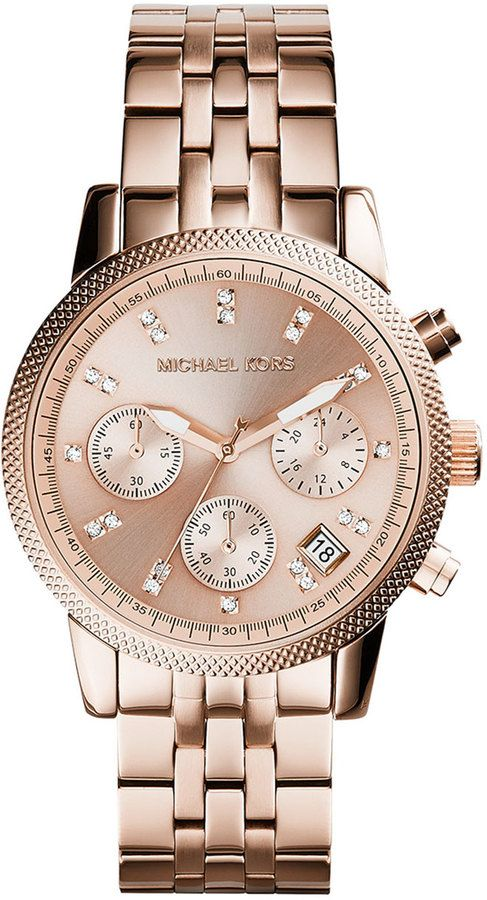 Michael Kors Rose Gold Watch https://www.thesterlingsilver.com/product/cluse-la-boheme-mesh-rose-goldwhite-watch-cl18112/