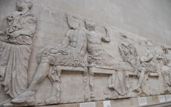 British Museum; London 2014 - Frieze from the Parthenon (part of the Elgin Marbles). Feasting men.
