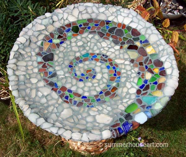 good idea for all that beach glass we've collected over the years!