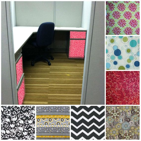 Work Office Decor Ways To Make Your Cubicle Suck Less Work: Cubical Fabric Wrap By SRSdesign3 On Etsy, $25.00