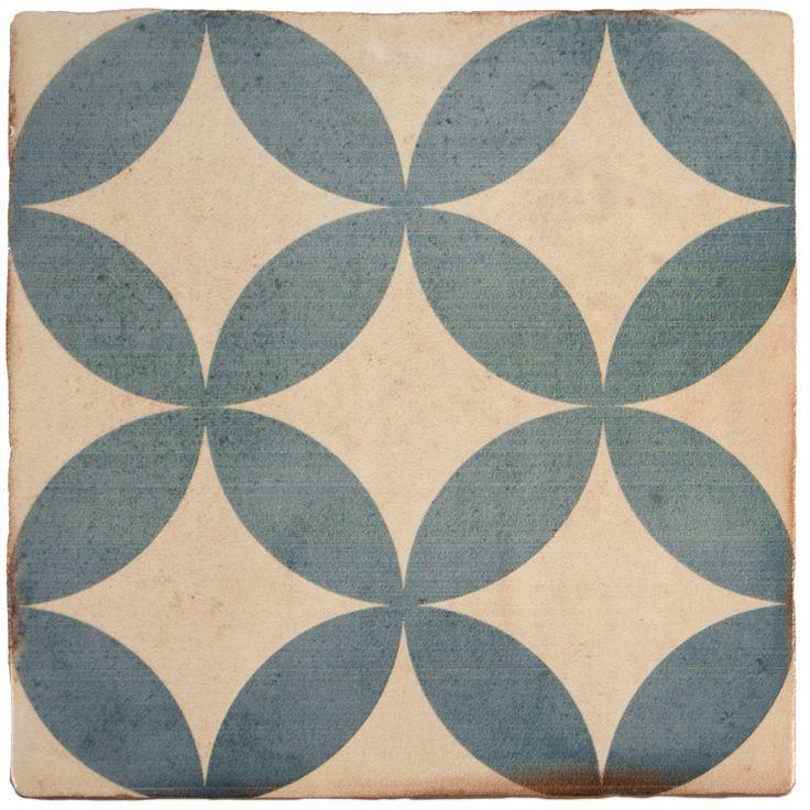 carreau de ciment comptoir du cérame, bleu