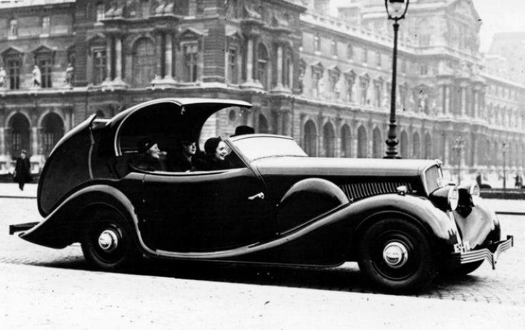 Первый автомобиль Peugeot 401 Eclipse - 1934 год - http://amsrus.ru/2014/07/14/pervyiy-avtomobil-peugeot-401-eclipse-1934-god/