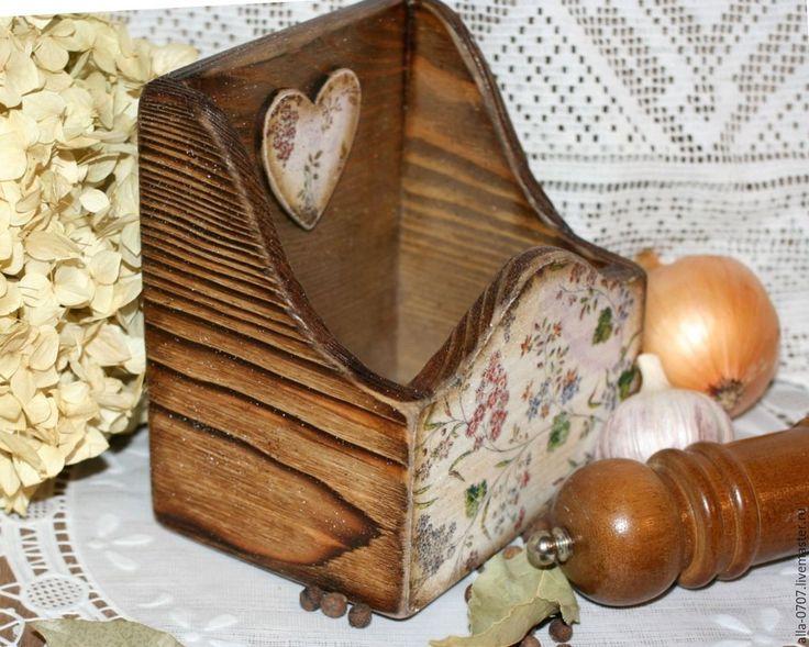 """Купить """"Травы"""" Короб для специй - Декупаж, подарок, разноцветный, шкатулка деревянная, шкатулка ручной работы"""
