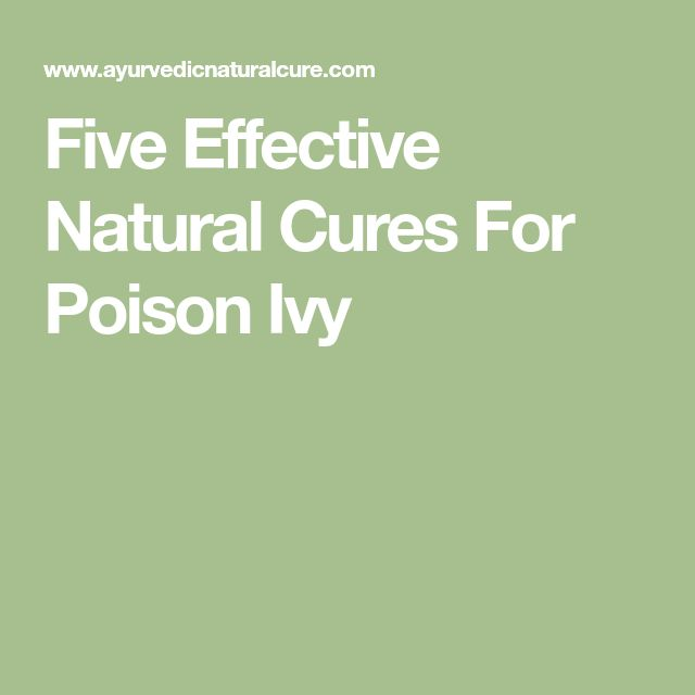 Five Effective Natural Cures For Poison Ivy
