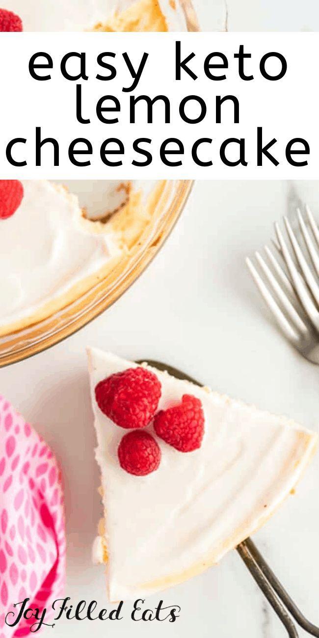 Keto Lemon Cheesecake Low Carb Sugar Free Gluten Free Grain Free Thm S In 2020 Easy Lemon Cheesecake Low Carb Recipes Dessert Sour Cream Cheesecake