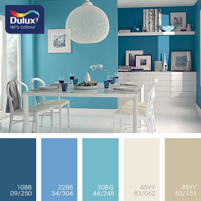 Blue and brown color inspiration for home design