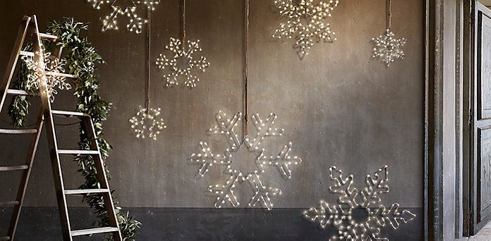 Starry Lights Snowflakes Restoration Hardware C H R I