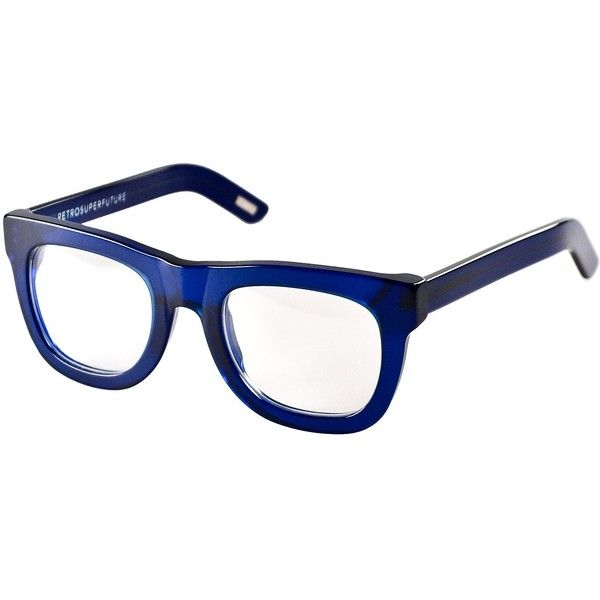 9735913924 Super Ciccio (Transparent Blue Clear Lens) Plastic Frame Fashion... ( 169)  ❤ liked on Polyvore featuring accessories