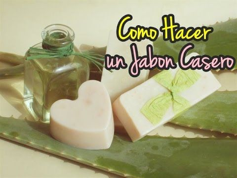 Como elaborar jabon de AloeVera,Miel y Aceite oliva,Acne,Suavidad,Hidratacion - YouTube