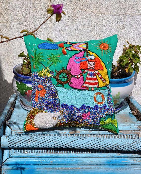 NUEVO!!! almohadas de lino, almohadas bordadas, almohadas boho, fundas de cojin lino, almohadas verde, cojines de lino, regalo para mama