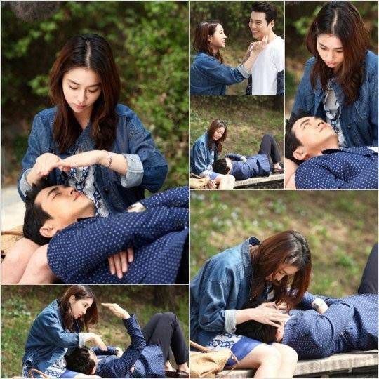 Lee Min Jung and Joo Sang Wook enjoy a romantic bench date in stills from 'Cunning Single Lady' | allkpop