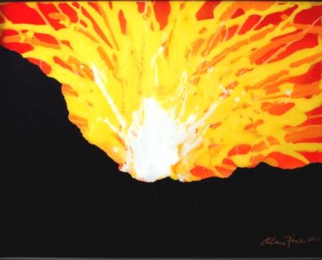 volcano art