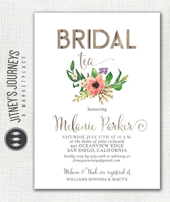 D E T A I L S  This is the perfect invitation for a rustic barnwood inspired bridal shower. Measurement choices for the invitation include 4 x 6
