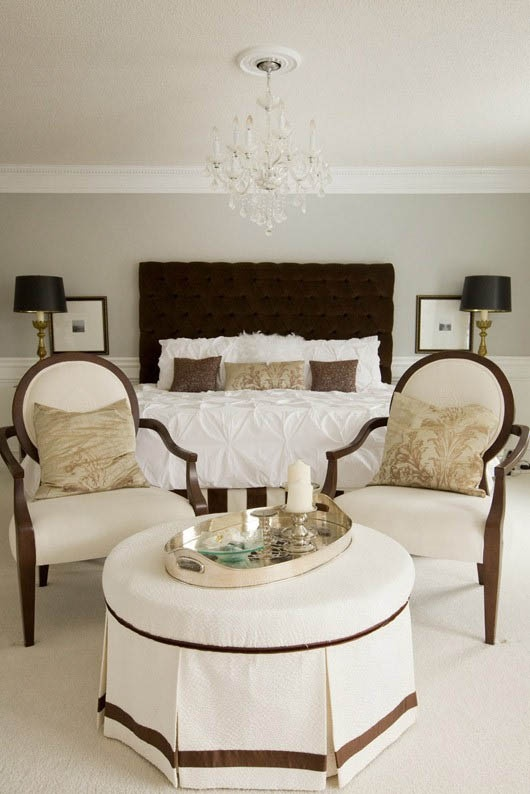 nice use of space and i love the chocolate brown and white.