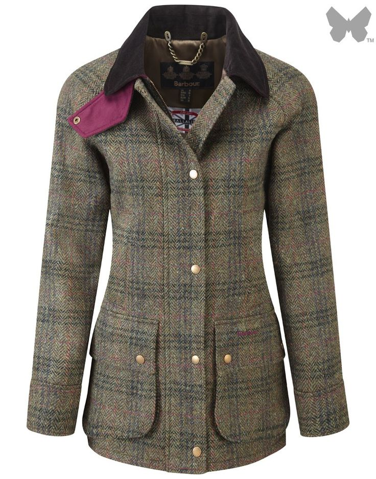 Barbour Ladies' Edworth Tweed Beadnell Jacket – Olive Tweed LWO0148OL71 | Country Attire