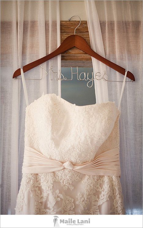 1000 images about diy wedding dress hanger on pinterest for Personalized wire wedding dress hanger