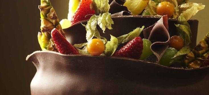 Suklaakakku hunaja-suklaapannalla - Fazer