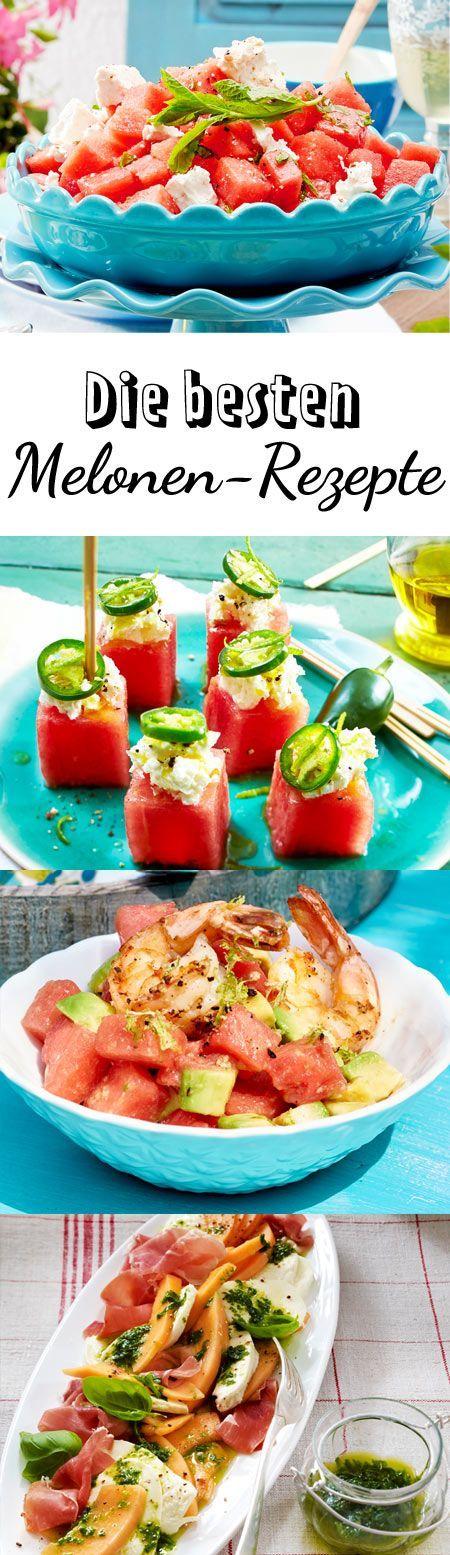 Viel Frische, wenig Kalorien: Melonen-Rezepte bringen Abwechlsung in die Sommerküche. Wassermelonen, Honigmelonen und Co. peppen Süßes und Herzhaftes lecker auf.