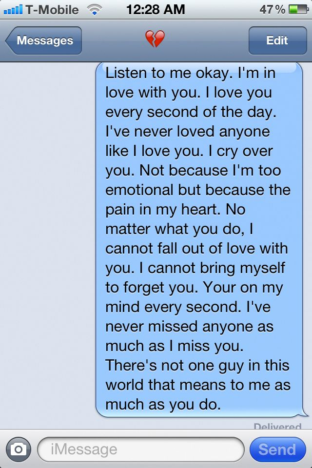 I have a guy I want to say this to but Im scared of what