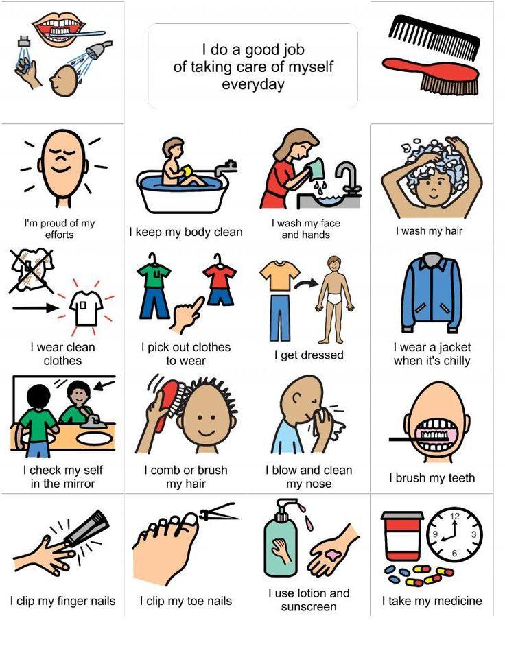 personal hygiene visual learner - Google Search