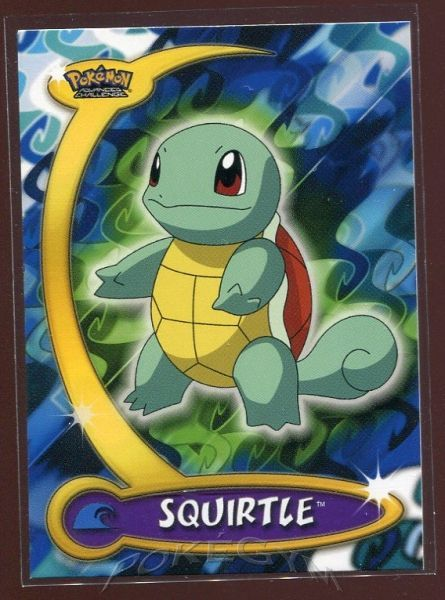 #070 Squirtle - Topps Pokemon Cards - Pokemon Advanced Challenge Trading Cards - $