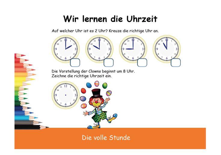 """Arbeitsblätter Kopiervorlagen Uhrzeit Lernen : Über ideen zu """"uhrzeit lernen auf pinterest"""