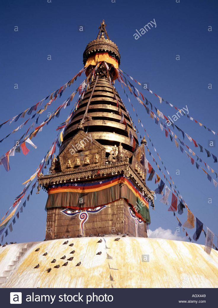 Nepal Kathmandu Swayambhunath Temple Stupa With Buddhas Third Eye Stock Photo, Royalty Free Image: 2663496 - Alamy