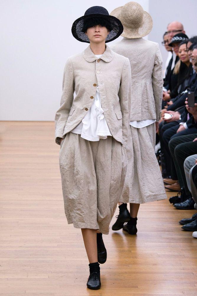Comme des Garcons Comme des Garcons S/S 15 Linen Elasticated Waistband Culottes  #CommedesGarons #Linen