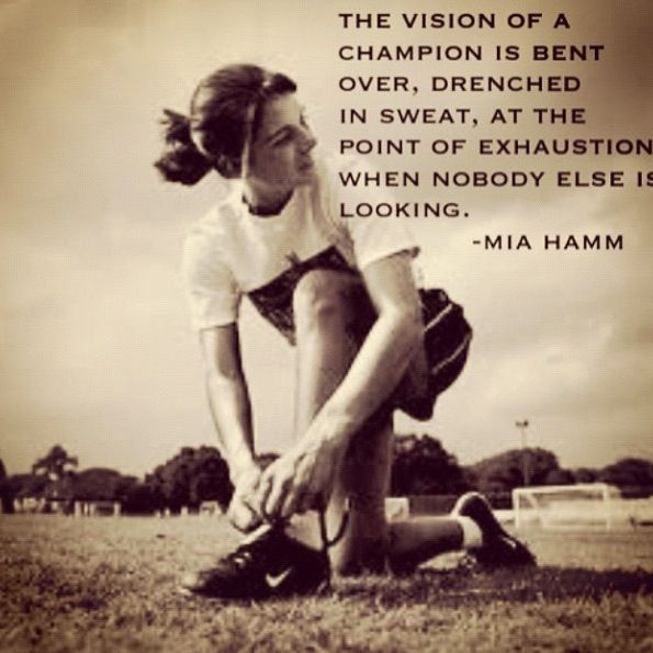 ~Mia Hamm Mia is a great inspiration for many young girls!