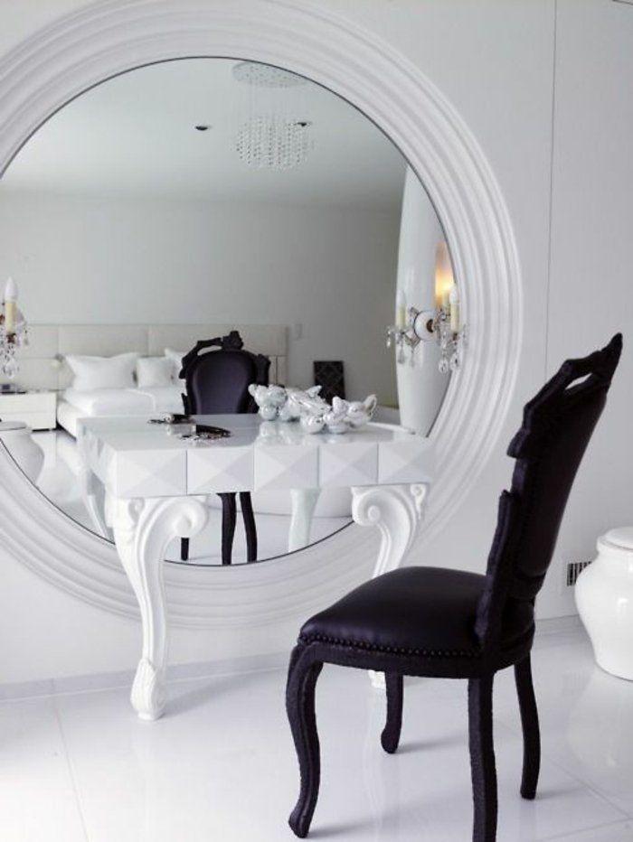 Les 25 meilleures id es concernant coiffeuse avec miroir for Miroir rond chambre
