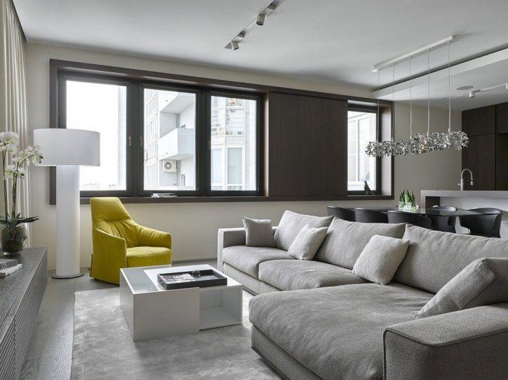 salon moderne design en 47 ides par alexandra fedorova - Salon Moderne Gris