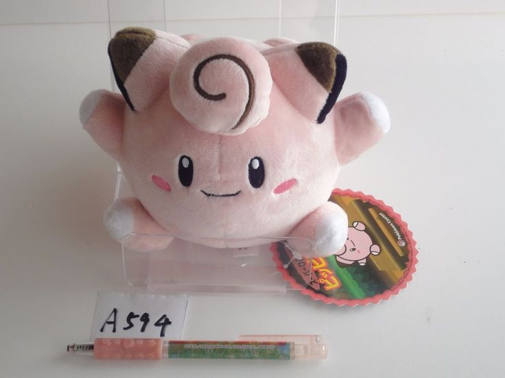 Pokemon Center Plush Doll Clefairy Piepi Melofee.with the bonus item From japan…