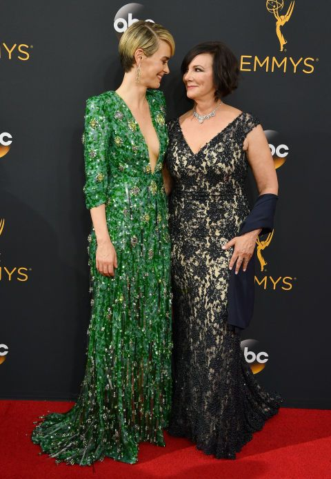 Sarah Paulson took Marcia Clark to the Emmy's when Paulson won for playing Marcia in The People v OJ Simpson. 2016