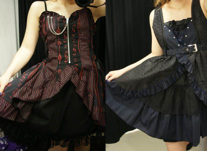 5TH FLOOR OF MARUI ONE SHINJUKU: GOTHIC LOLITA PUNK STORE, H.NAOTO DRESSES.