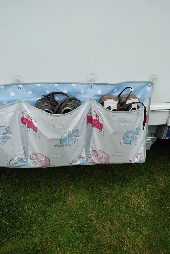 Caravan Shoe Tidy Motorhome Tidy Awning Organiser Etsy Caravan Storage Caravan Awnings Caravan Makeover