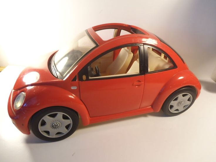 Vintage 2000 Mattel Barbie Car VW Volkswagen Beetle Bug Red Ken #Mattel | Barbie VW Beetle cars ...