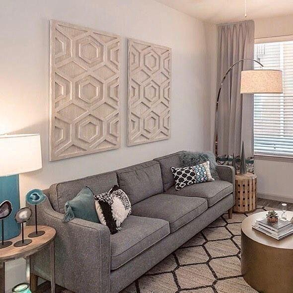 Graphic Wood Wall Art Whitewashed Hexagon Couch Decor Living Wall Decor Wall Decor Living Room