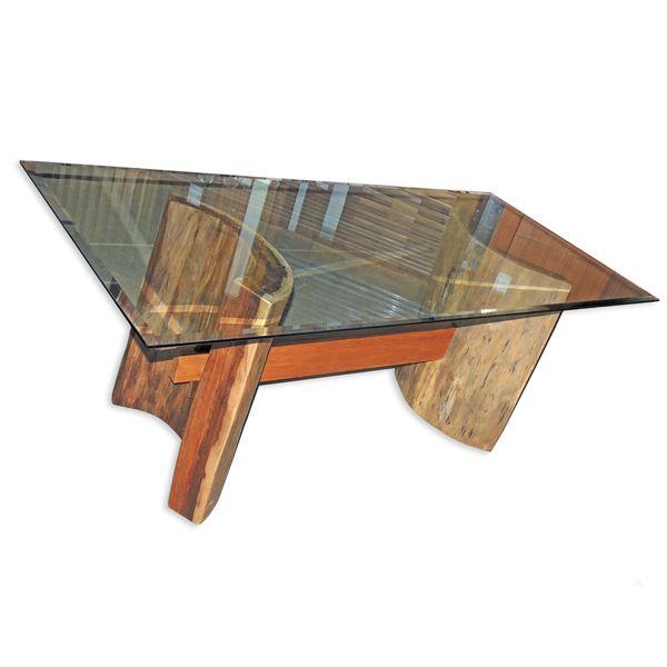 Pé de madeira maciça rustica para mesa!