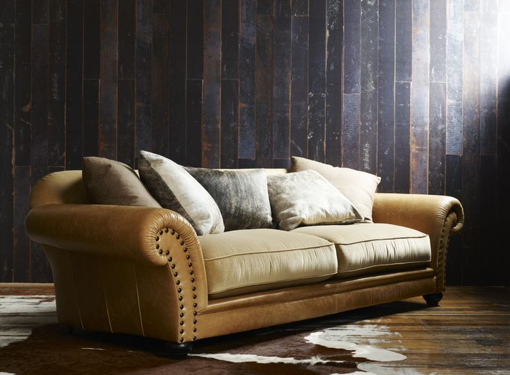 Molmic Hadleigh Sofa Aged Leather And Soft To Touch