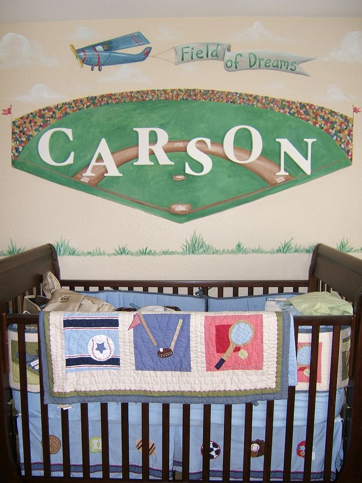 Baby Boy Room Mural Ideas: 17 Best Images About Baseball Nursery On Pinterest