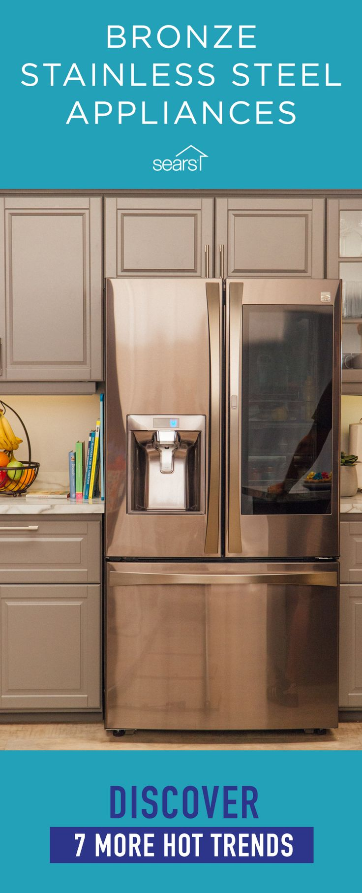 Bronze stainless steel appliances are just one of this year's hot appliance trends. Appliances are smarter and sleeker than ever before and we've got the scoop on the latest design trends. From ovens with french doors to smart laundry that you can control from an app on your smartphone, this year's appliance trends aim to make your life easier. Visit the Sears Home Services Knowledge Center for more of this year's kitchen, laundry and bath appliance trends.