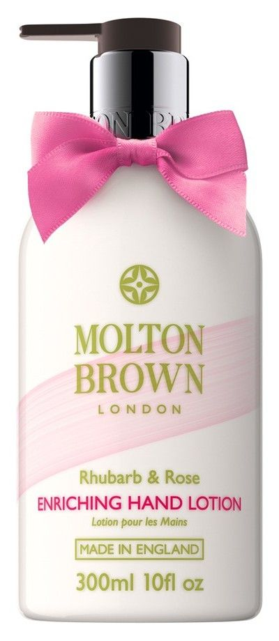 This rhubarb and rose scented lotion not only smells amazing, but is super hydrating.
