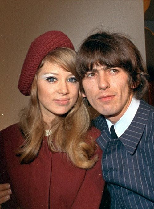 1966 - George Harrison and his then-wife Pattie Boyd. Lucky girl!! {GM}